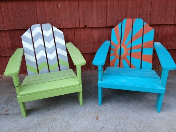 handmade adirondack chairs items similar to kid s adirondack handmade painted 7610