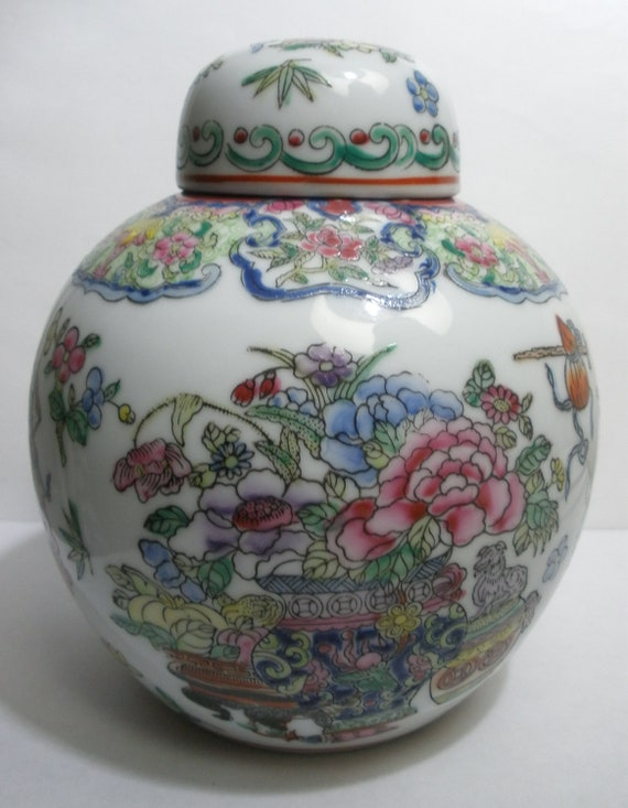 Chinese Ginger Jar - Macao - Beautiful Floral