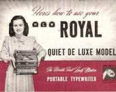 1948 Royal Portable Typewriter Manual / Promotional Booklet