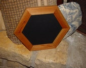Rare unique solid cedar wood 6 sided picture photo craft frame oak finish country rustic display