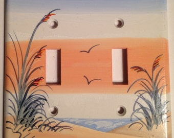 Sand Dune with Sea Oats Double Lightswitch Cover