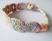 Handmade Mermaid Inspired Friendship Bracelet with Plastic Bead