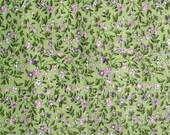 Vintage green purple fabric