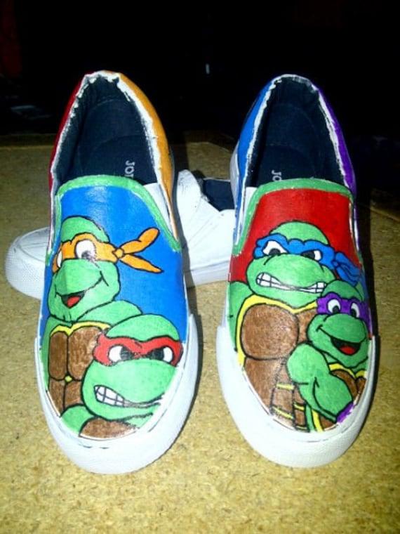 mutant turtles painted by loveinspiredgoods