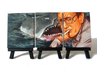 JAWS - Awesome Miniature Canvas and Easel Set - The Perfect Gift - The Perfect Gift