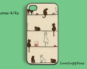 CAT iPhone 4 case iPhone 4s case iPhone cases iPhone 4 cover personalized hard plastic iPhone case
