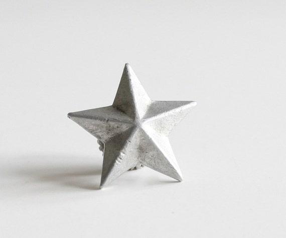 Silver Star WW 2 Italian Military Collar Tab Vintage Insignia Badge Bomisa Milano WWII