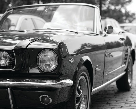 Mustang, Classic Ford Mustang Motors No. 8 - New York Photography - 8x10 Black & White Fine Art Print
