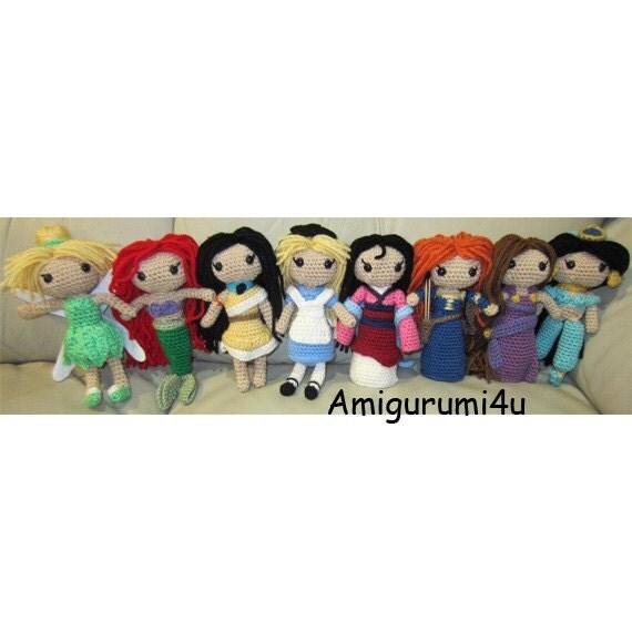 Amigurumi Principesse Disney : Disney Princess Amigurumi Crochet Doll Tinker Bell by ...