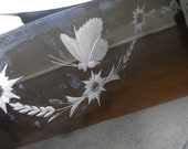 RESERVED MELISSA/Beautiful antique etched mirror