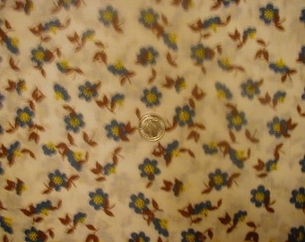 "Cotton Flour Sack Fabric ONE Square (12"" X 12"") MISPRINT"