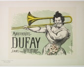 Sold to Bernhard.........Louis Anquetin, Original Maitres de L'Affiche, French 1899, Plate No.150, Ad for Marguerite Dufay in Paris.