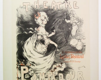 E. Barcet, Original Maitres de l'Affiche Poster, Paris 1900, Plate No. 203,  Poster for the Pompadour Theatre in Paris.