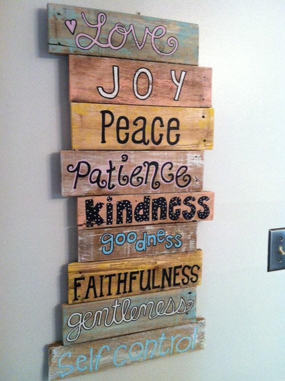 Wood Pallet Art Wall Decor Bible Verse Series By