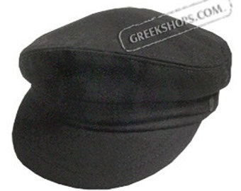 Greek Fiddler Fisherman Hat - Black Wool