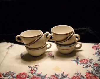 Mid Century Vintage Restaurant Coffee Cup Set(6)
