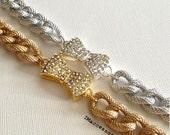 SALE Pave Bow Bracelet