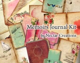 Memoirs Journal Kit, Hybrid Printable INSTANT DOWNLOAD