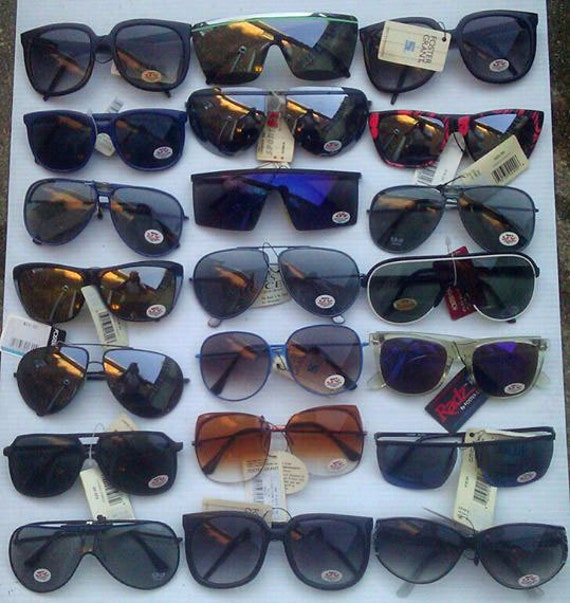 21 vintage name brand sunglasses 70s and 80s era all in new