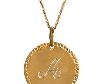 Single initial monogram charm necklace, monogram jewelry, personalized jewelry, personalized necklace