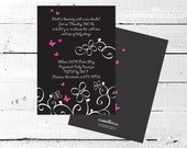 BLOSSOM Black and Pink Party INVITATION from The Celebration Shoppe