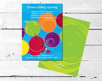 Art Birthday Party PRINTABLE INVITATION from The Celebration Shoppe