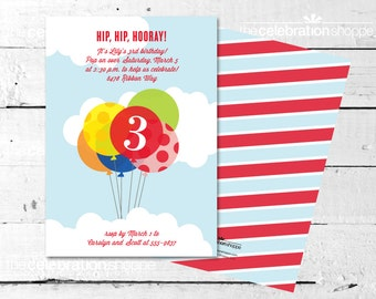 BALLOON Birthday Party INVITATION from The Celebration Shoppe
