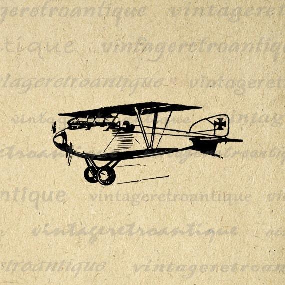 vintage airplane clipart - photo #35