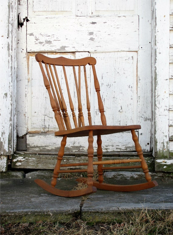 to 45 DOLLAR SHIPPING/ Antique Wooden Rocking Chair/ Minimal/ 1800s ...