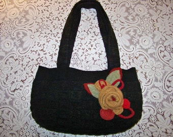 Kimberly - Repurposed, Upcycled Felted Wool Sweater Bag - An Original Eula Birdie Bag