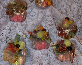 Mini Pumpkin-Decorated Pumpkin-Fall,Autumn,Thanksgiving Arrangement,Decoration,Centerpiece