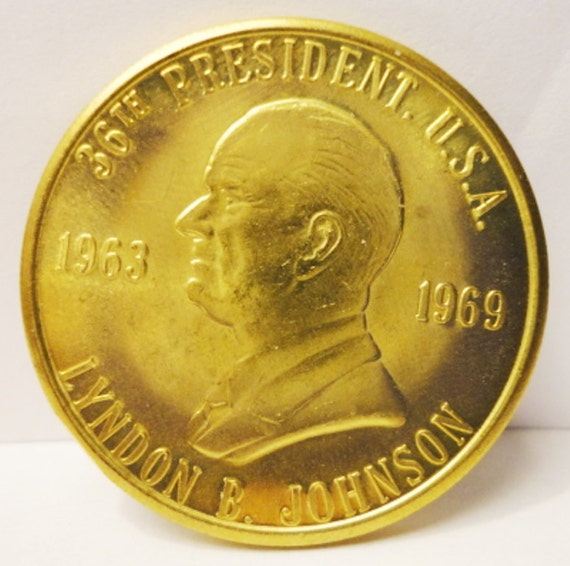 Us 36th President Lyndon B Johnson Commemorative Coin Token