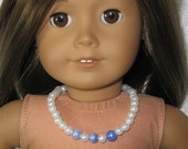 "American Girl or 18"" Doll Necklace - faux pearl"