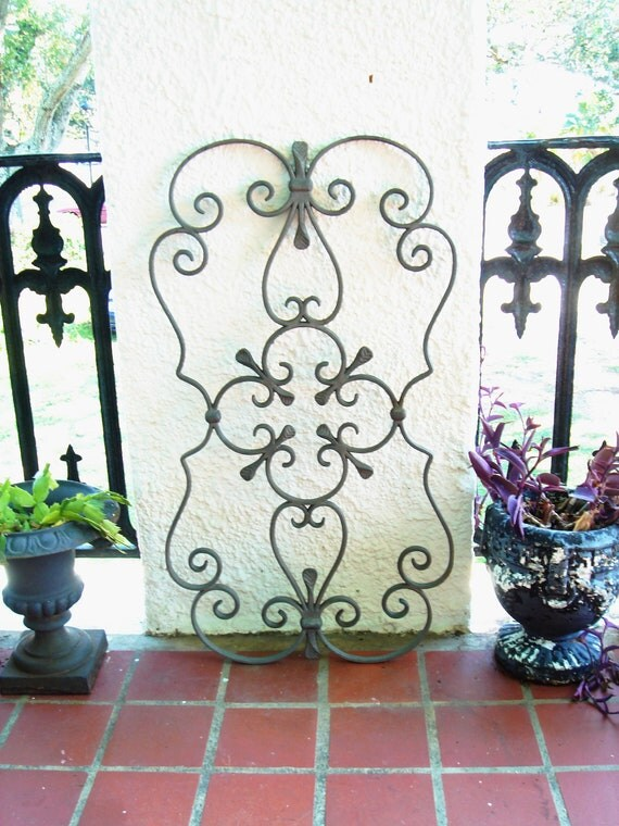 Cast Iron Scroll Architectural Window Wall Door Garden Gate