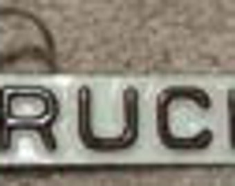 License Plate TRUCK Keychain License Plates Craft