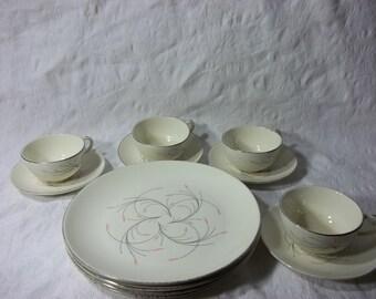 Vintage Mid Century Set of Homer Laughlin Rhythm Dinnerware Set.  J 59 N5.