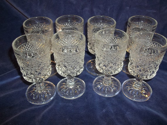 Set Of 8 Vintage Cut Glass Small Goblets: how can i cut glass at home