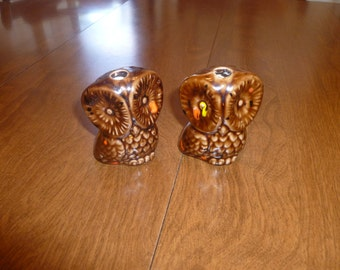 Two Small Vintage Owls