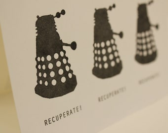 Doctor Who Dalek Get Well Soon Card
