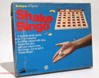 Shake Bingo Game from Schaper 1977 COMPLETE