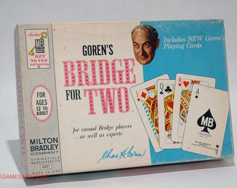 Goren's Bridge for Two Game from Milton Bradley 1964 COMPLETE (read description)