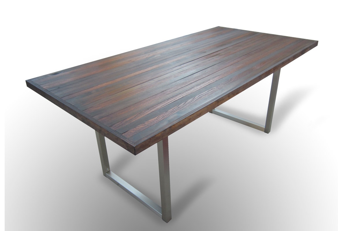Contemporary industrial dining table for