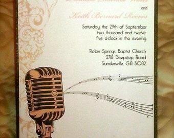 Vintage Music Invitation Sample