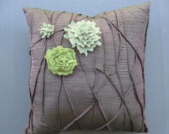 Bark and Lichen Square Pillow