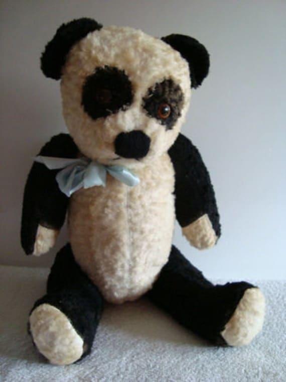 Vintage Panda Teddy Bear 1950 S 60 S
