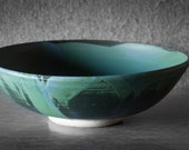 Large Bowl with Blue-Green Interior