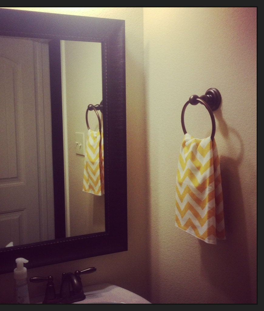 Hand Towels Bathroom: Modern CHEVRON HAND TOWEL Bathroom Guest Or By