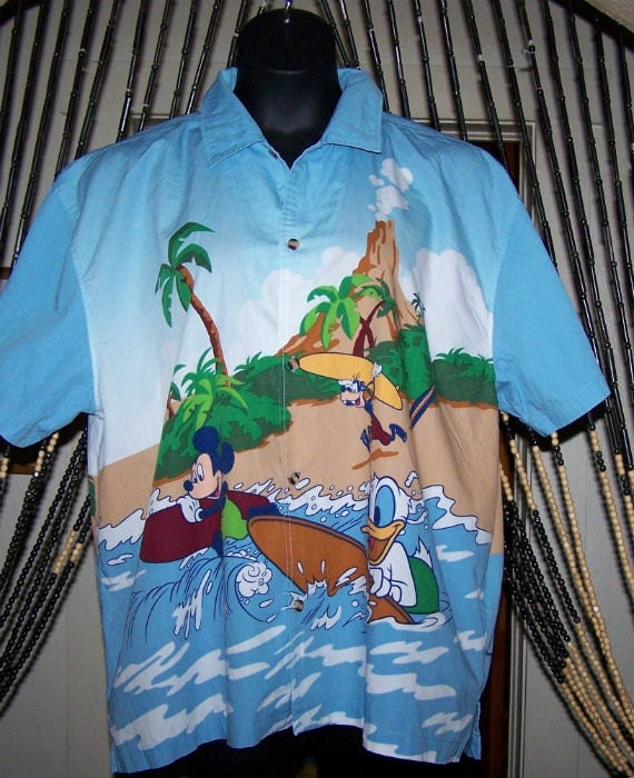 Vintage Donald Duck Hawaiian Shirt