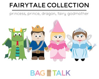FAIRYTALE Printable Paper Bag Puppet Cut Outs