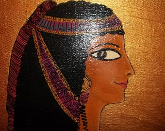 Painting of Egyptian woman